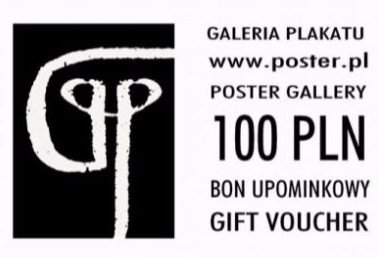 gift voucher, polish poster gallery
